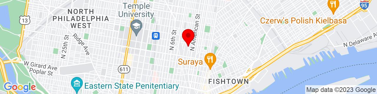 Google Map of 39.9787341, -75.1401817