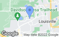 Map of Louisville, CO