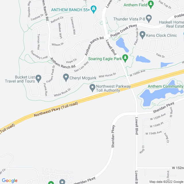 Map of Northwest Parkway