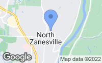 Map of Zanesville, OH