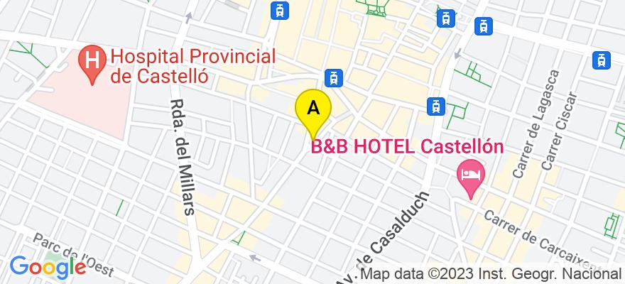 situacion en el mapa de . Direccion: XIMENEZ, 32, 12005 Castellón de la Plana. Castellón de la Plana