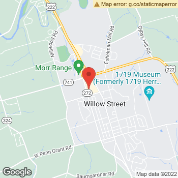 Map of Dr. Tyler Reppert and Associates at 2600 Willow Street, Willow Street, PA 17584