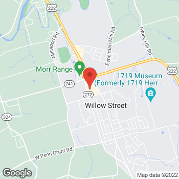 Map of Verizon Authorized Retailer – TCC at 2600 N Willow St., Willow Street, PA 17584