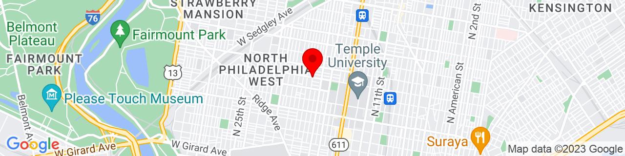 Google Map of 39.9840228, -75.16328670000001