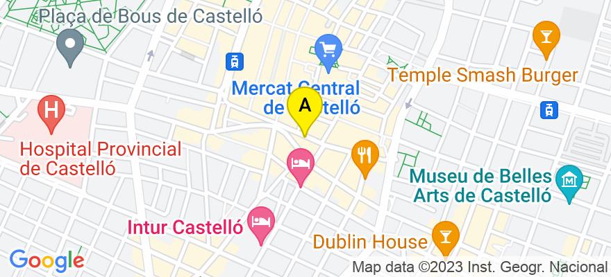 situacion en el mapa de . Direccion: C) Gasset nº 8 1º, 12001 Castellón de la Plana. Castellón de la Plana