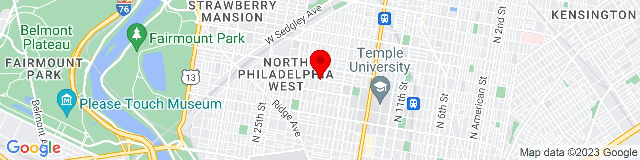 Google Map of 39.9843356, -75.1656333