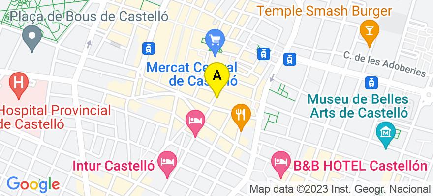 situacion en el mapa de . Direccion: C/ Mayor 6, piso 4º, 12001 Castellón de la Plana. Castellón de la Plana