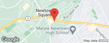 Map of 12 Clover Ln in Newtown Square
