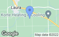 Map of Laura, OH