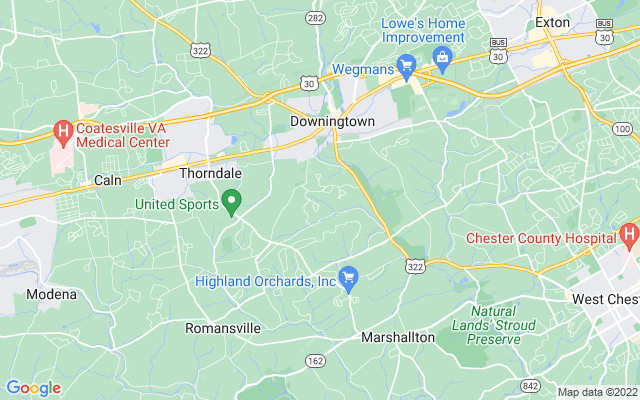 Chester county on the map