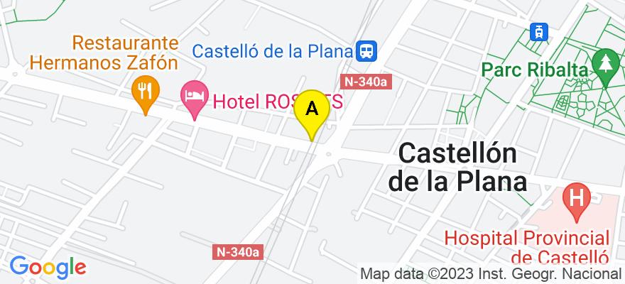 situacion en el mapa de . Direccion: AV ALCORA, 32, 12006 Castellón de la Plana. Castellón de la Plana