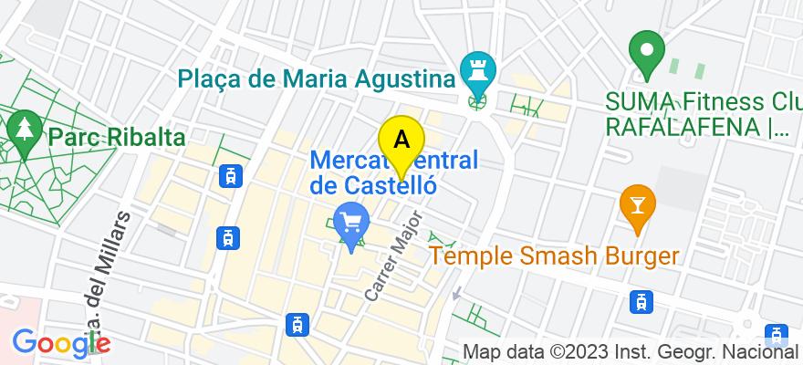 situacion en el mapa de . Direccion: c/Caballeros, 10, 4, d, 12001 Castellón de la Plana. Castellón de la Plana