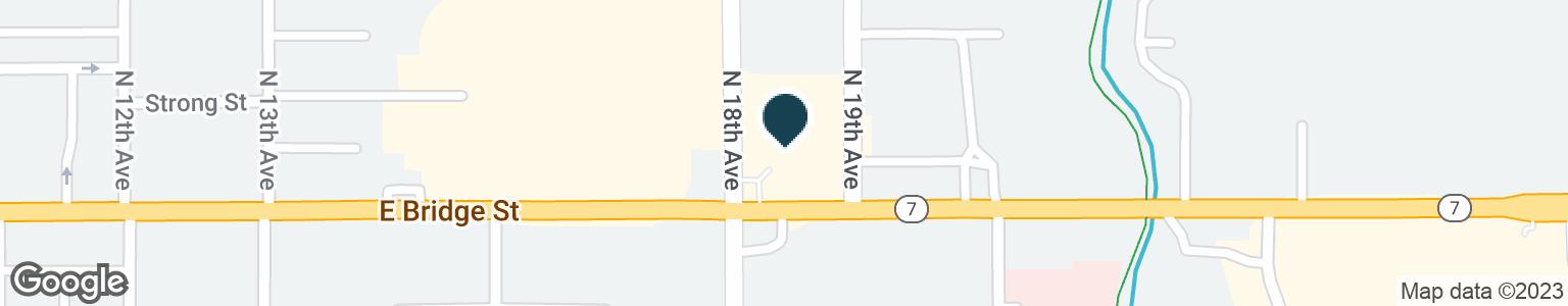 Google Map of1821 E BRIDGE ST