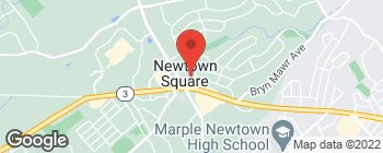 Map of 3605 Chapel Rd in Newtown Square