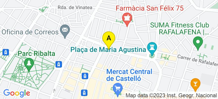 situacion en el mapa de . Direccion: Plaza Clave, 12, 12001 Castellón de la Plana. Castellón de la Plana