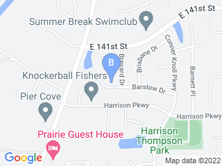 Map of Pet Services Plus Dog Boarding options in Fishers | Boarding