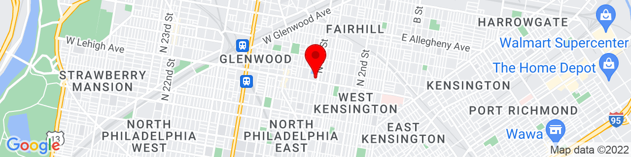 Google Map of 39.9927808, -75.1425045