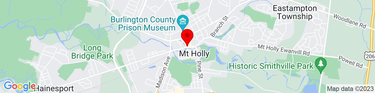 Google Map of 39.9931438, -74.78793929999999