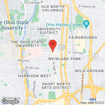 Map of Verizon Authorized Retailer - TCC at 1586 North High Street, Columbus, OH 43201