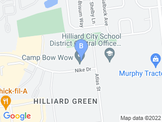 Map of Camp Bow Wow Dog Boarding Hilliard Dog Boarding options in Hilliard | Boarding