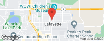Map of 100 E Chester St in Lafayette