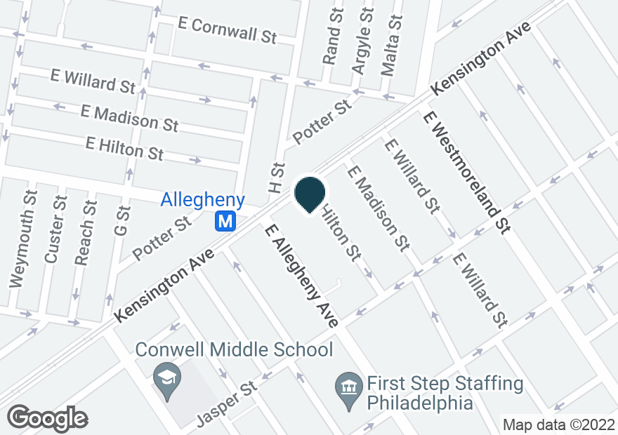 Google Map of1809 E ALLEGHENY AVE