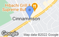 Map of Cinnaminson, NJ