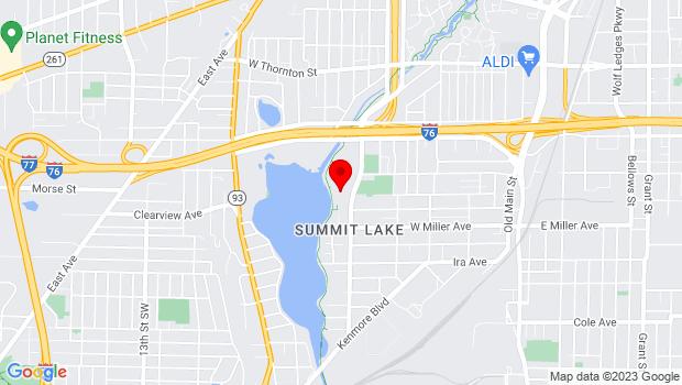 Google Map of 390 West Crosier Street, Akron, OH 44311