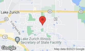 Map of 390 Hidden Creek Road LAKE ZURICH, IL 60047