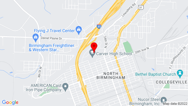 Google Map of 3900 24th Street N, Birmingham, AL 35207