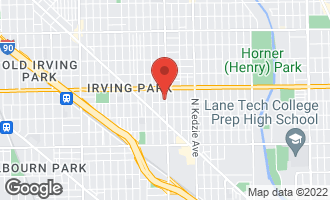 Map of 3904 North Kimball Avenue #2 Chicago, IL 60618