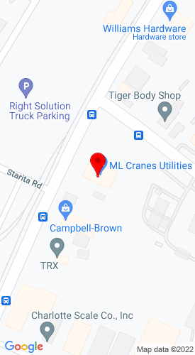 Google Map of ML Cranes & Equipment 3908 N Graham Street, Charlotte, NC, 28206