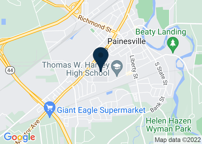 Map of 391 W Washington St, Painesville, OH 44077, United States