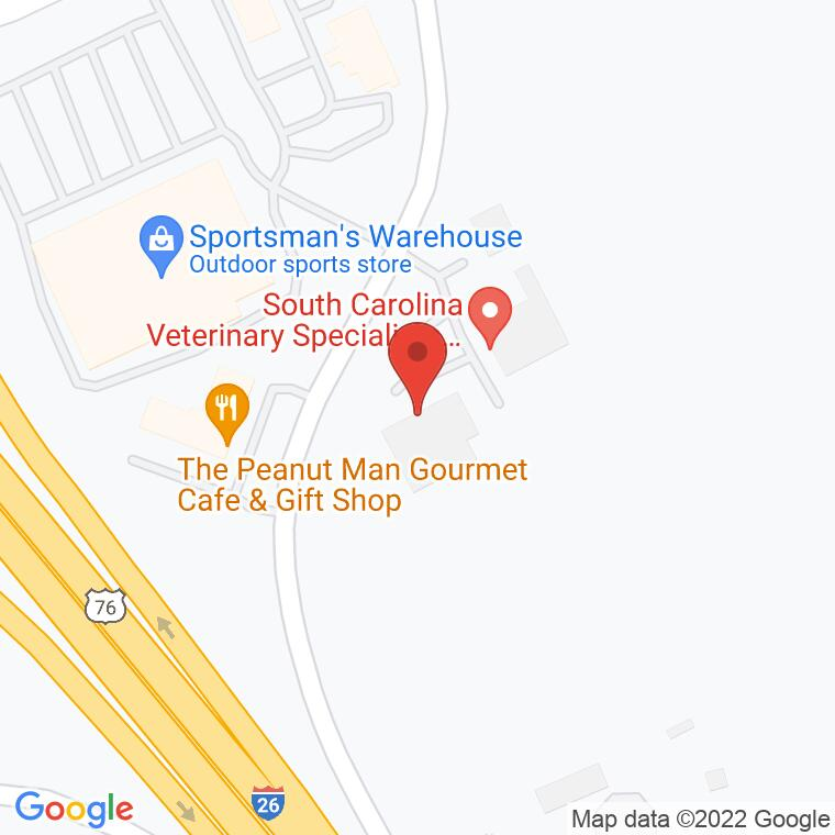 Google Map of 3912 Fernandina Rd., Columbia, SC, 29210