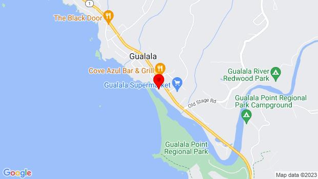 Google Map of 39140 S Highway 1, Gualala, CA 95445