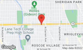 Map of 3946 North Hoyne Avenue 3S CHICAGO, IL 60618