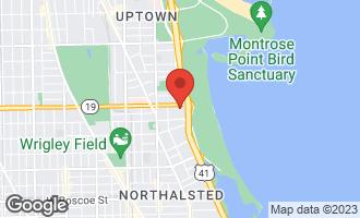 Map of 3950 North Lake Shore Drive #1415 CHICAGO, IL 60613