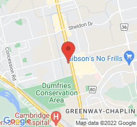 Google Map of 396+Hespeler+Rd%2CCambridge%2COntario+N1R+6J6