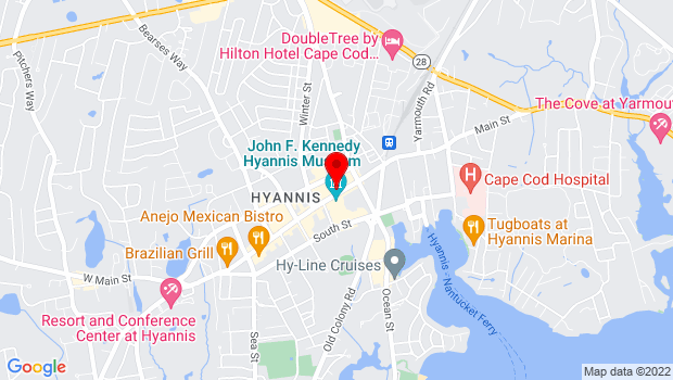 Google Map of 396 Main St, Suite 10, Hyannis, MA 02601