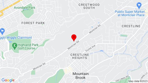 Google Map of 3960 Montclair Road , Birmingham, AL 35213