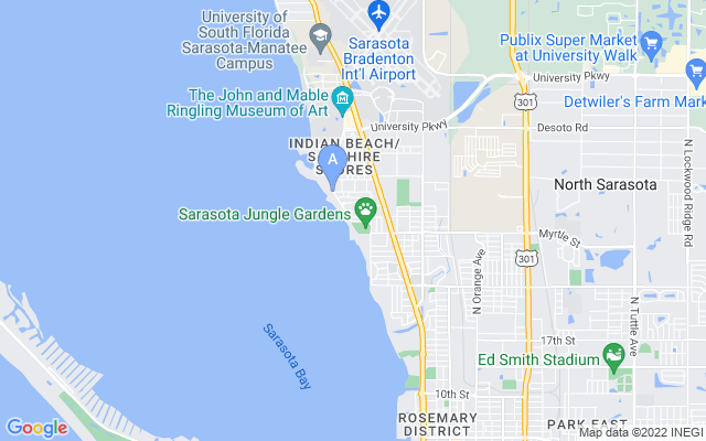3970 Bay Shore Rd Sarasota Florida 34234 locatior map