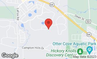 Map of 39W573 Walt Whitman Road CAMPTON HILLS, IL 60175