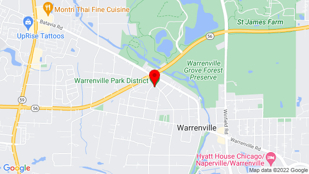 Google Map of 3S260 Warren Ave, Warrenville, IL 60555