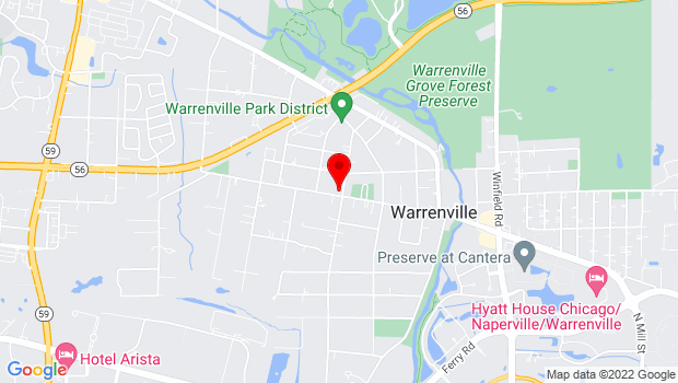 Google Map of 3S460 Curtis Avenue, Warrenville, IL 60555