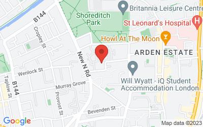 Map of 4 Clunbury St, London, UK