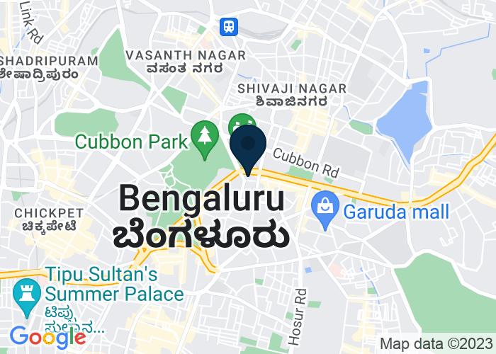 Map of 4 1/3 MG Road, Bengaluru, Karnataka, India