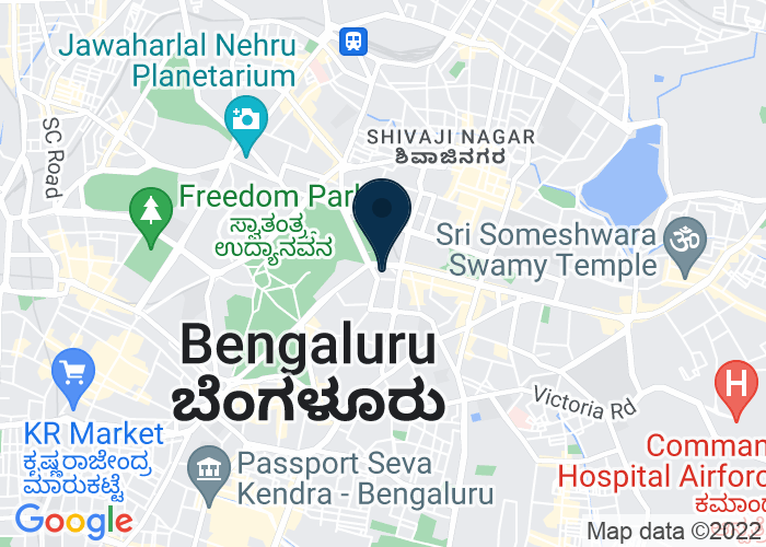 Map of 4 1/3 Mahatma Gandhi Road, Bangalore, India