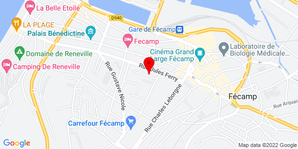 Google Map of 4 rue de barry, 76400 Fécamp, France