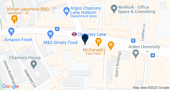 Google Map of 4-6 Staple Inn Buildings London WC1V 7QH