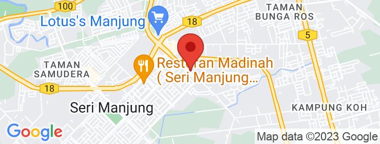 Map of Kafe D'Sauk | Bandar Manjung